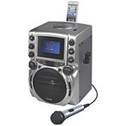 "CDG Karaoke System with 4.3"" Screen & Bluetooth by Karaoke USA"