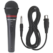 Professional Dynamic Microphone with Removable Cord by Karaoke USA