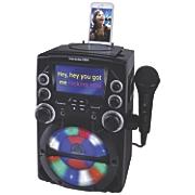 "CDG Karaoke System with 4.3"" Screen & LED Lights by Karaoke USA"
