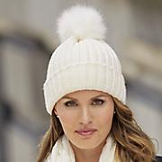 Ribbed Pompom Hat