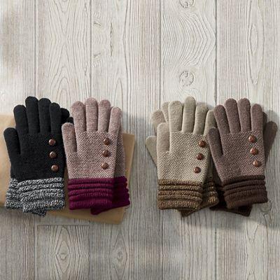 2-Pair Knit Gloves