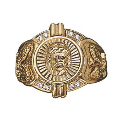 Men's Cubic Zirconia Jesus Ring