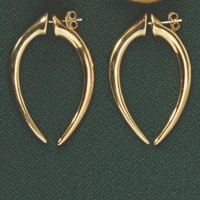 Horn Front/Back Earrings