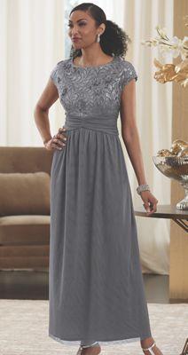 Abigail Sequin Bodice Gown