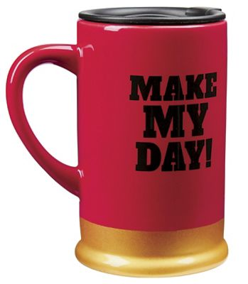 "20-Oz. ""Make My Day"" Travel Mug"