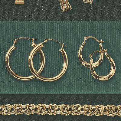 2-Pair Gold Hoop Set