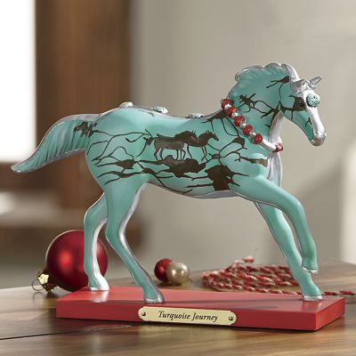 Turquoise Journey Figurine From Trail of Painted Ponies