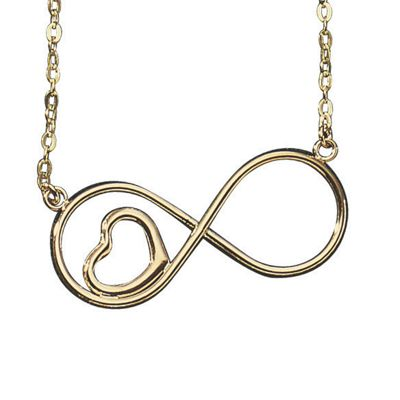 10K Gold Infinity/Heart Necklace