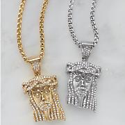 Jesus Crystal/Stainless Steel Pendant