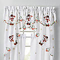 Embroidered Snowman Valance