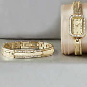 Crystal Watch/Bracelet Set