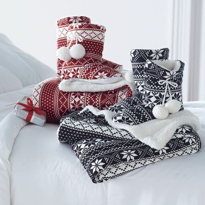 Fair Isle Throw and Bootie Set