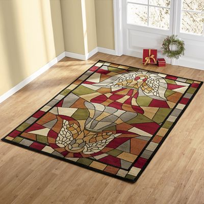 Stained Glass Angel Rug