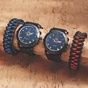 men s rubber strap watch bracelet set
