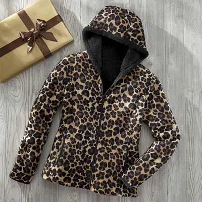 Leopard Fleece Jacket
