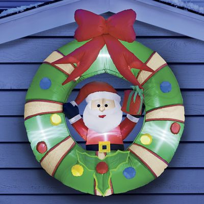 Santa Inflatable Wreath