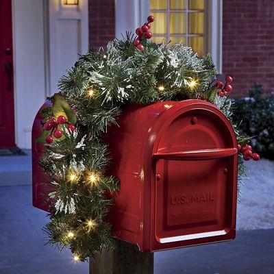 Lighted Mailbox Garland
