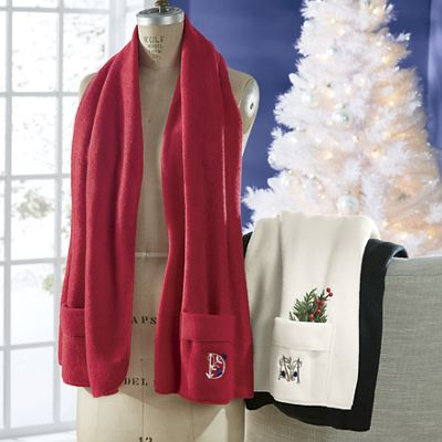 Personalized Pocket Fleece Shawl