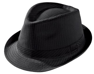 Striped Bling Fedora