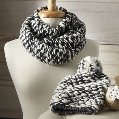 Women's Nubby Infinity Scarf and Hat Set