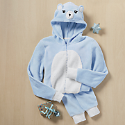 women s hooded bear onesie