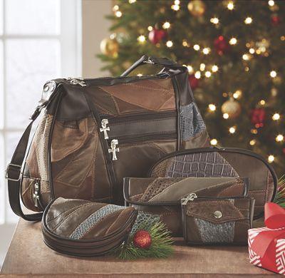 5-Piece Leather Handbag Set