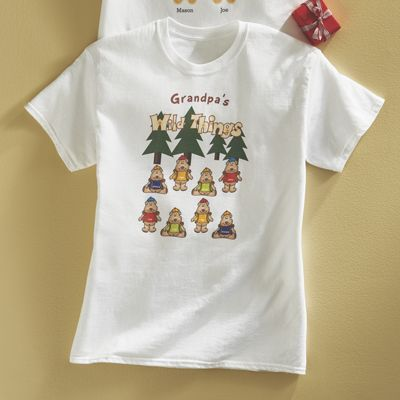 Personalized Grandpas Wild Things Tee