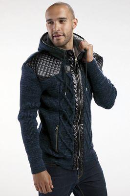 Men's Buckle Sweater Jacket