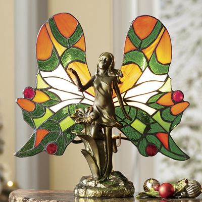 Stained Glass Angel Accent Lamp