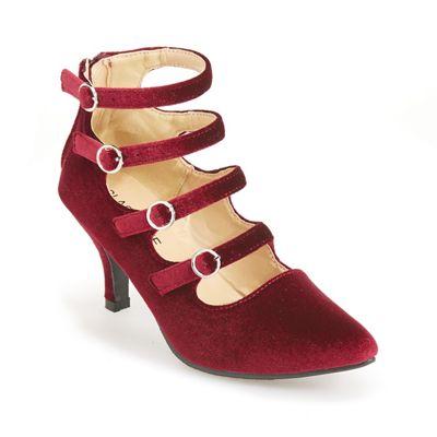 Velvet Multi-Strap Shoe by Classique