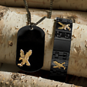 Stainless Steel Eagle Pendant and Bracelet
