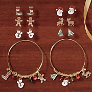 holiday earring and bracelet set