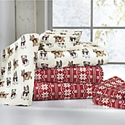holiday cotton flannel sheet set 6