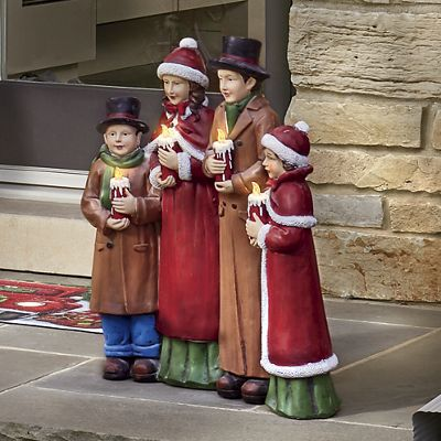 Lighted Resin Carolers