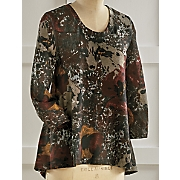 Abstract Floral Top