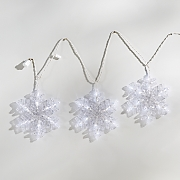 3 snowflake string lights