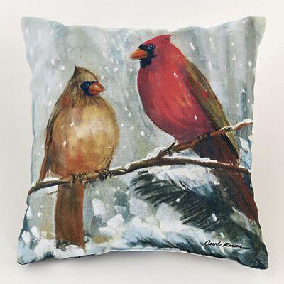Holiday Cardinal Outdoor Pillow