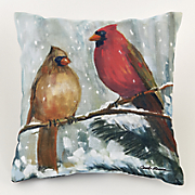 Holiday Cardinal Outdoor Pillow