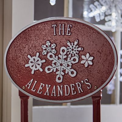 Personalized Snowflake Plaque