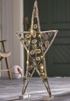 Lighted Star Frame