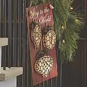 Joy to The World Ornament Wood Sign