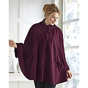 Ruffled Trim Cape