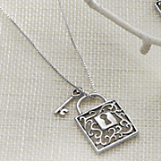 Sterling Silver Lock/Key Pendant