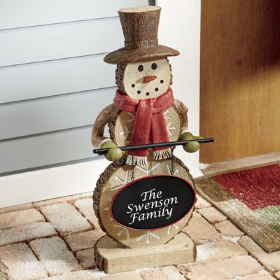 Personalized Snowman Greeter