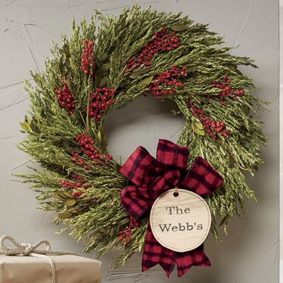 Personalized Wheat Berry Wreath