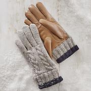 Wool Leather Combo Glove