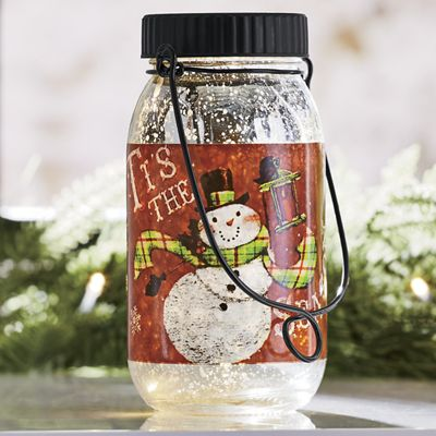 Glass Jar LED Lantern