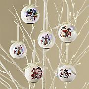 Set of 6 LED Blinking Ornaments