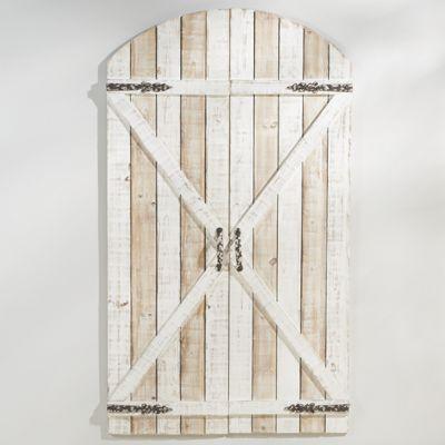 Set of 2 Whitewash Gates
