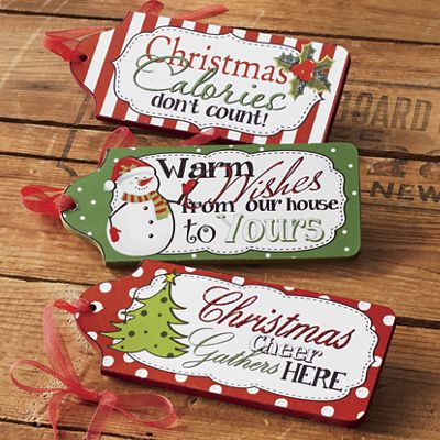 Set of 3 Christmas Tags
